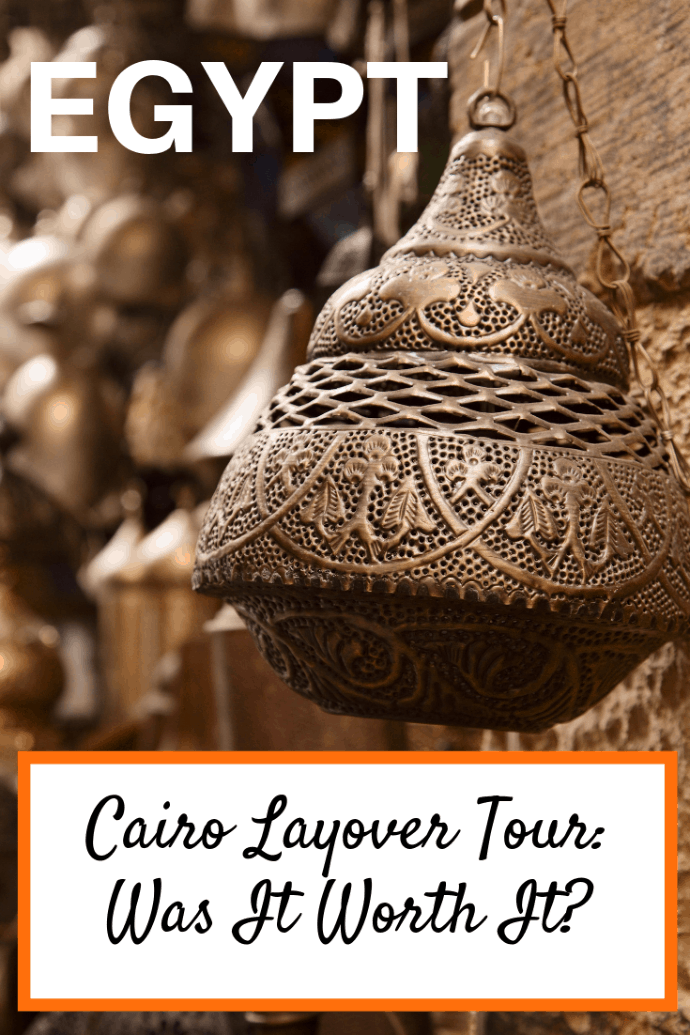 We had a 10 hour layover in Cairo and decided to take a private Cairo layover tour. We saw the Pyramids of Giza and the Sphinx, and explored Old Cairo and the Khan el-Khalili market. It was an amazing! Here are tips for making the most of your time. #travel #familytravel #travelwithteens #Cairo #Egypt | El Moez, falafel, Felfela, Giza, Islamic Cairo, Khafra, Khan el-Khalili, Khufu, King, layover, Menaure, Nile, Old Cairo, Pharaoh, Pyramids, shawarma, Sphinx|