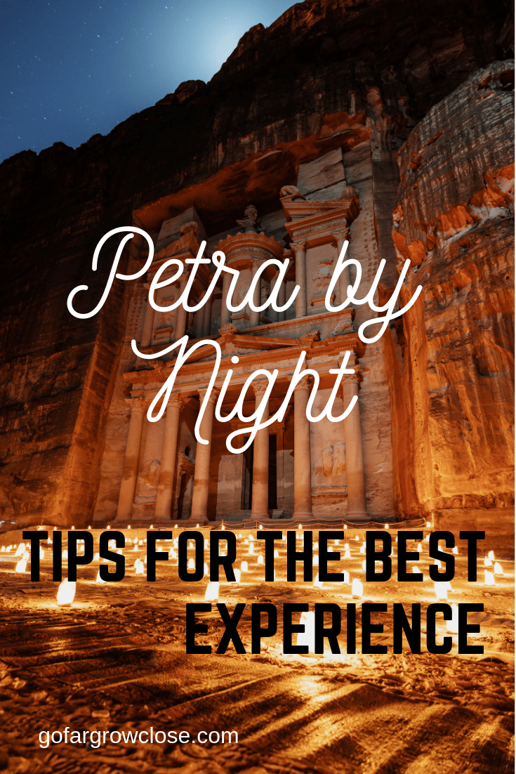 We visited Petra and were blown away by its beauty. However, an unexpected surprise was being able to visit Petra by night with only the moon and hundreds of candles lighting our way. It was an extraordinary experience that you should make sure that you have on your trip to Petra. Here are tips for making this night extraordinary. #travel #familytravel #Jordan #Petra |Nabataens, Petra, Pink City, Romans, Seven Wonders of the World, Siq, The Old Village Resort, Treasury, Unesco, Wadi Musa