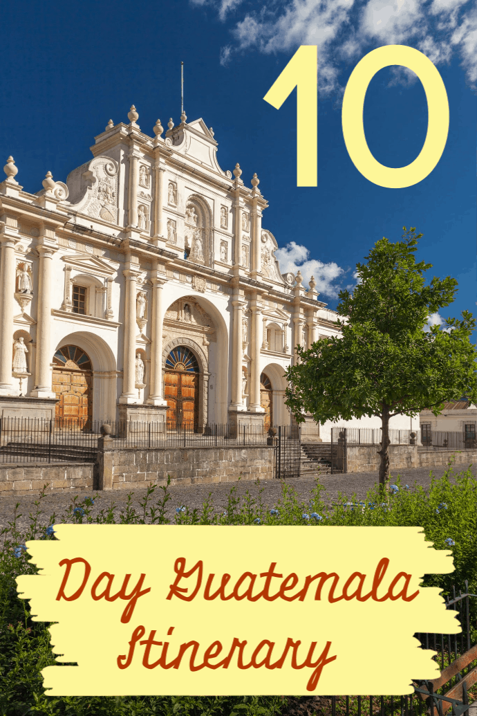 A 10 Day Guatemala Itinerary that has you exploring Antigua, Lake Atitlan, Chichicastenango market, Tikal and Lake Peten. It will thrill teenagers and adults alike with exciting adventures in breathtaking scenery. Delicious food and beautiful accommodation also awaits.#travel #familytravel #adventure #Guatemala|ARCAS, ATV, Cerro Cahui, Crater Azul, hike, Pacaya Volcano, Panajachel, Posada del Angel, San Marcas, Santa Cruz, Sin Fronteras,