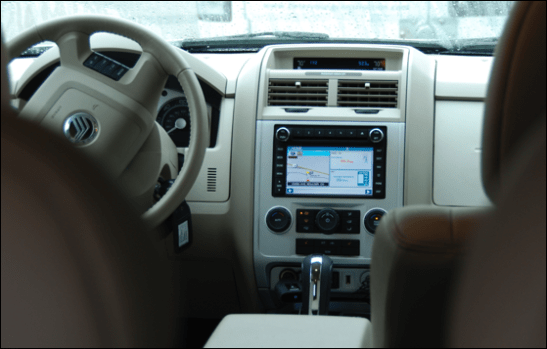 mercury mariner hybrid dashboard gps