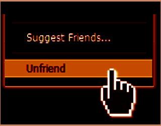 unfriend your ex on facebook