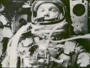 Astronaut John Glenn in Friendship 7, Orbiting the Earth