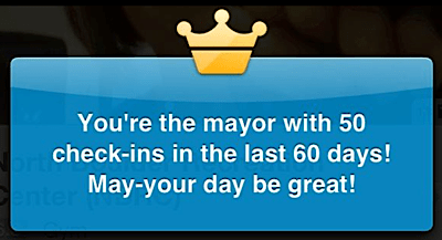 foursquare mayor of the gym