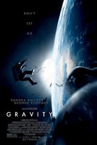 Gravity one sheet - Sandra Bullock and George Clooney