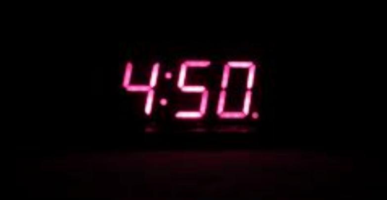4:50am clock