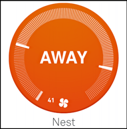 nest thermostat, in house temp: 41F