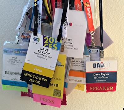 some of my conference badges