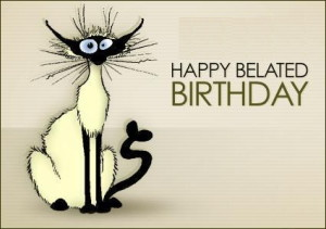 bill the cat belated birthday wishes
