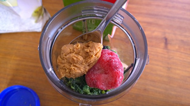add peanut butter to your smoothie