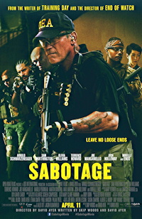 sabotage movie one sheet poster