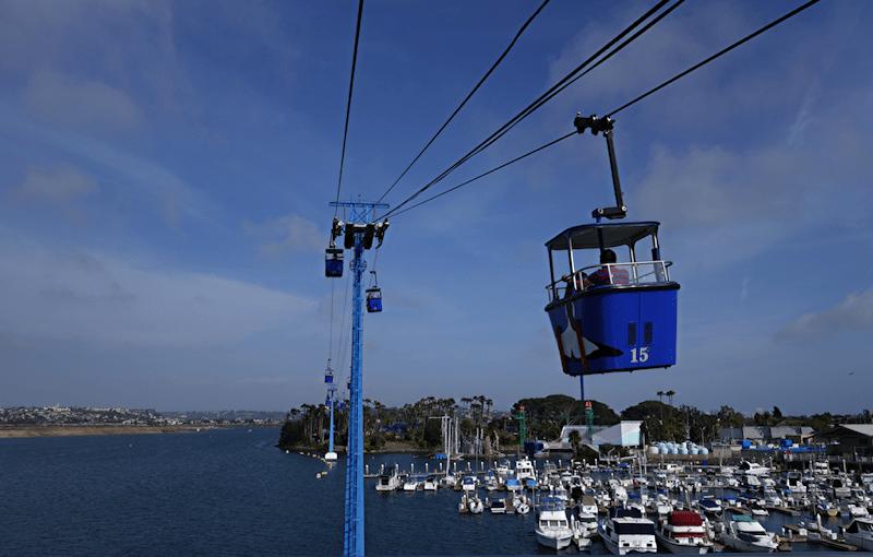 bayside skyride at san diego seaworld