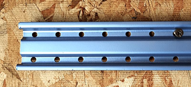 rail install, rubbermaid fasttrack garage organizer