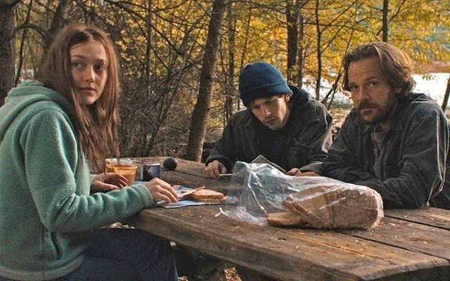 jesse eisenberg, dakota fanning, peter sarsgaard, from night moves