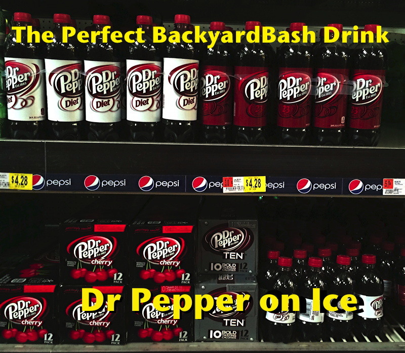dr pepper display at walmart