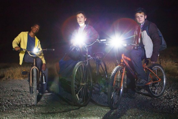 Tuck (Brian Bradley), Alex (Teo Halm) and Munch (Reese Hartwig) from Earth to Echo