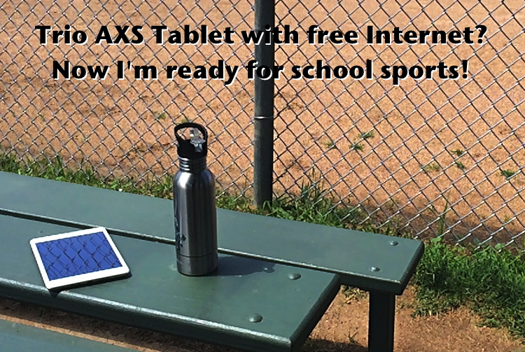 tmobile trio axs tablet with free lifetime internet, from walmart