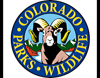 colorado parks and wildlife logo - my son is off hunting with his step-father