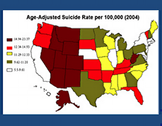 suicide correlates with happiness in the Rockies. Why?
