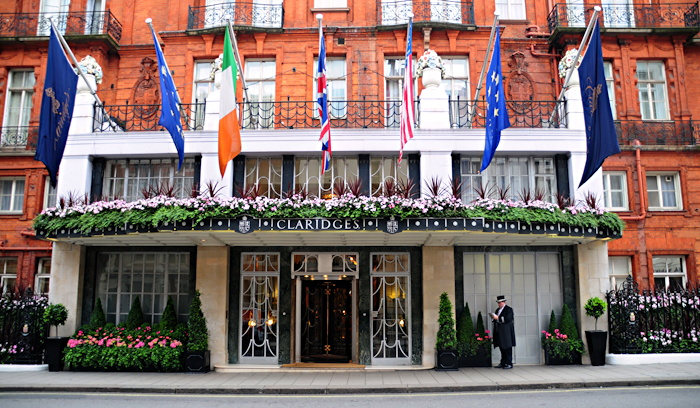 Claridge's Luxury Hotel Mayfair London England UK