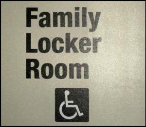 family locker room sign