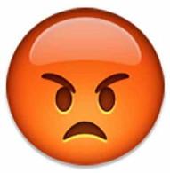 angry emoji emoticon