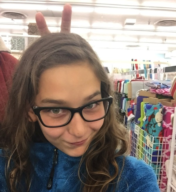 funny selfie with crizal-lens glasses on