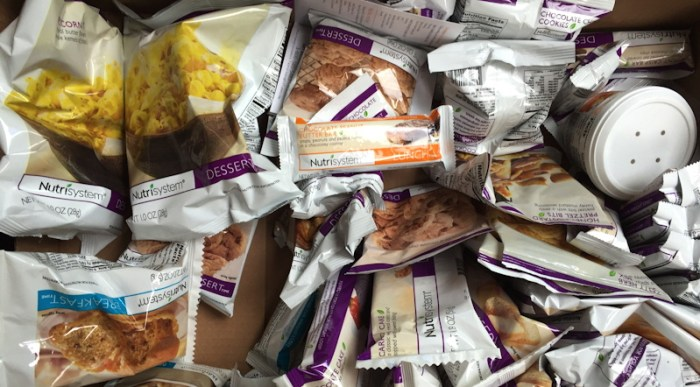 mostly desserts from nutrisystem, ready to eat