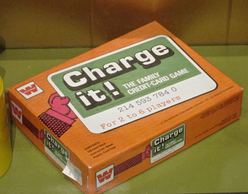 """""""charge it"""" credit card game"""