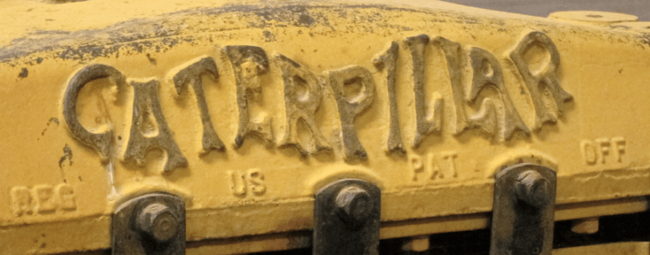 original caterpillar logo antique tractor