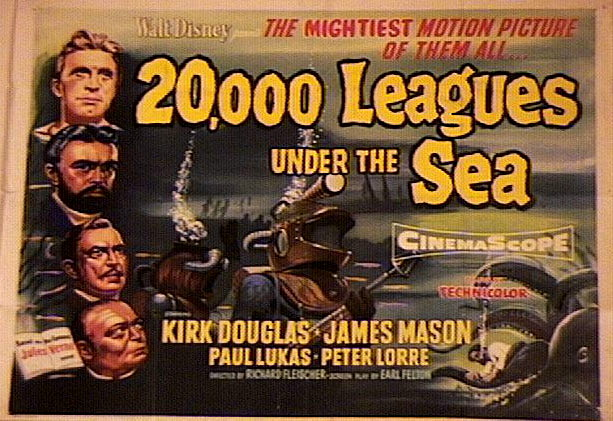 20,000 leagues under the sea disney movie poster photo