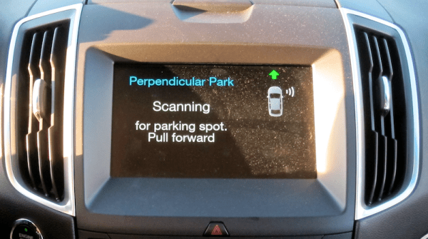 ford perpendicular parking assist display