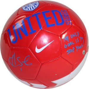 soccer ball signed by hope solo