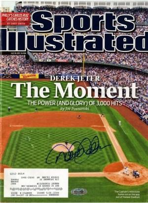 sports illustrated signed by derek jeter