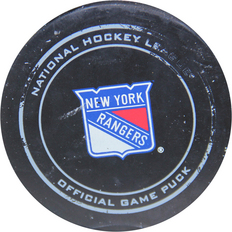 ny rangers actual game used puck hockey