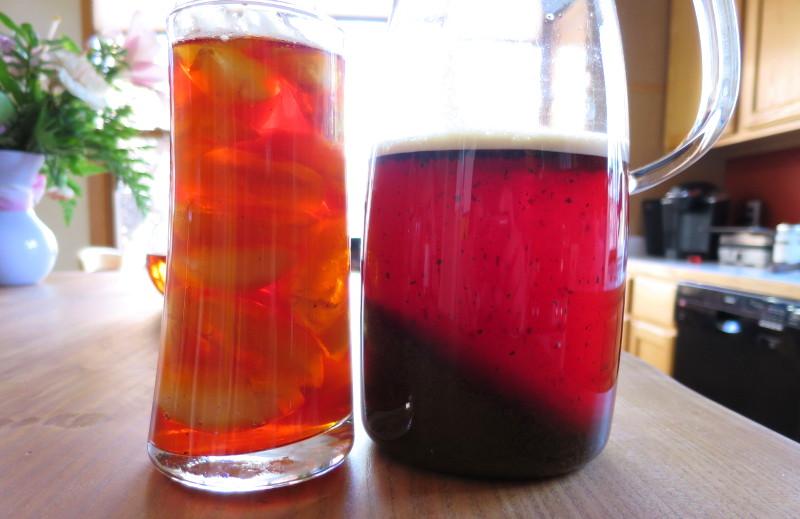 lovely iced tea brewed from rington's finest english tea in a Mist Glass Ice Tea Jug