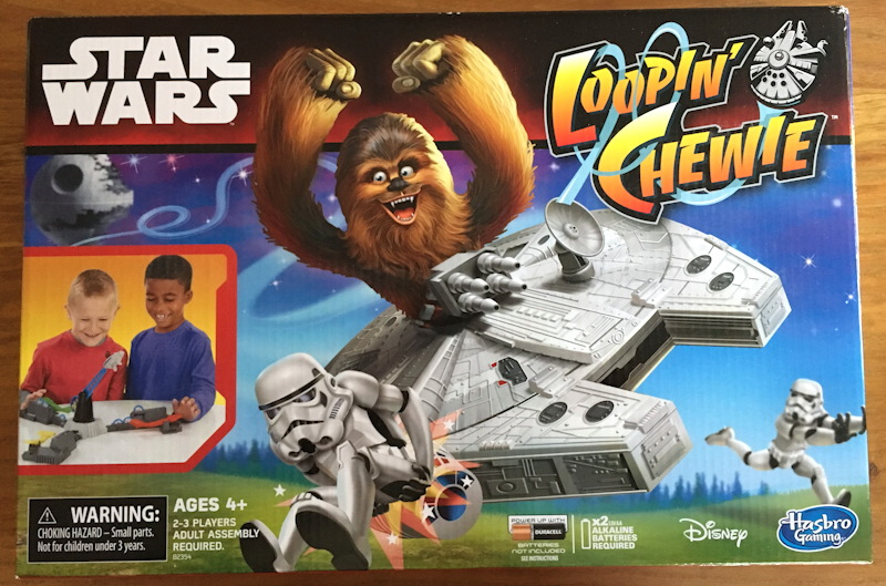 hasbro star wars loopin' chewie toy game box package