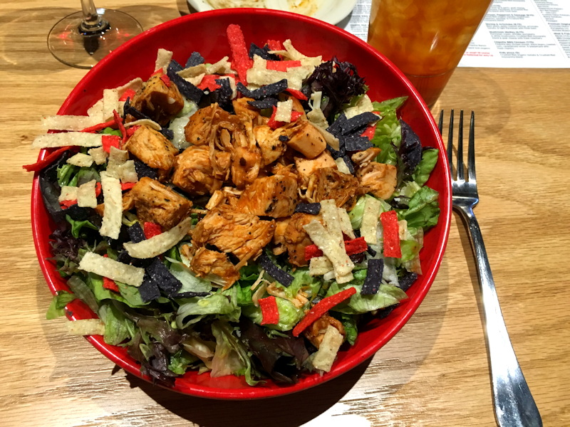 chipotle bbq chicken salad, crushed red, chopped salad, westminster co