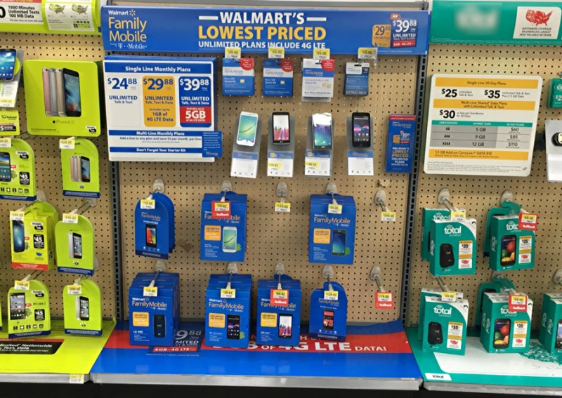 walmart family mobile plus display, walmart, longmont co