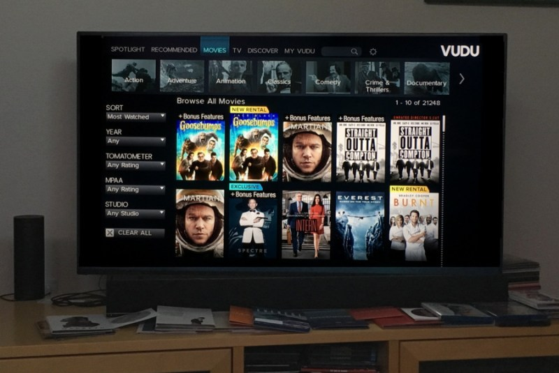 vudu movie choice on our Vizio 4k smart tv