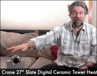 video review crane 27 tower heater ceramic