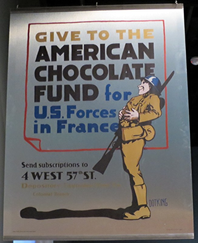 give to the american chocolate fund, wwii poster