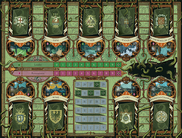 a study in emerald, second edition, game board