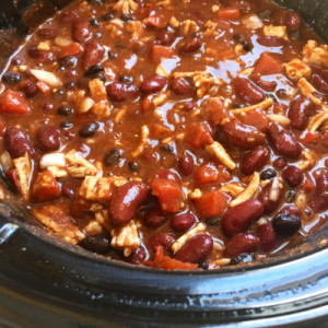 turkey chili in a slow cooker crock-pot