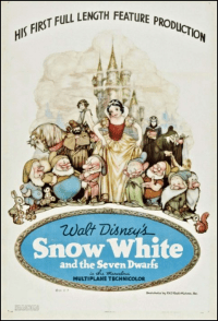 snow white and the seven dwarfs 1938 movie poster one sheet