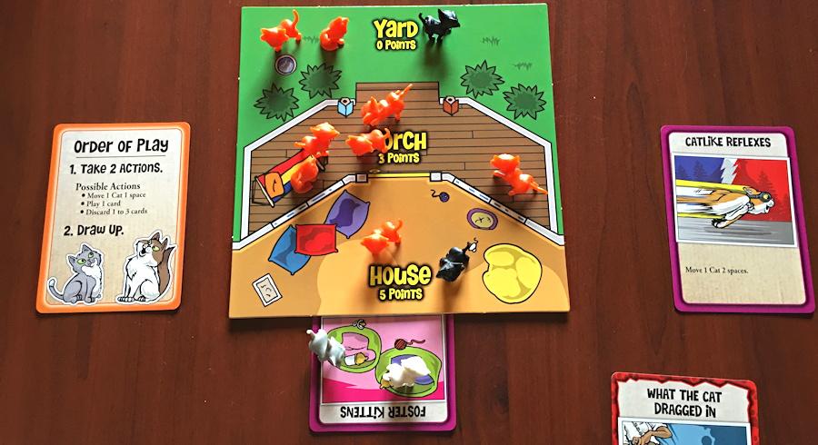house / board setup here kitty kitty game