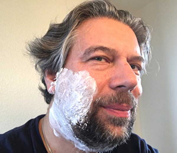 Lathered up, ready to shave with the Gillette Fusion ProShield