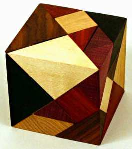 3d wood tangram puzzle cube