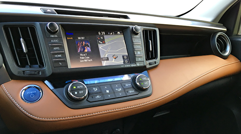2016 toyota rav4 hybrid entertainment navigational gps system
