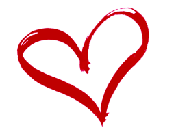 children happy because parents communicate, red heart