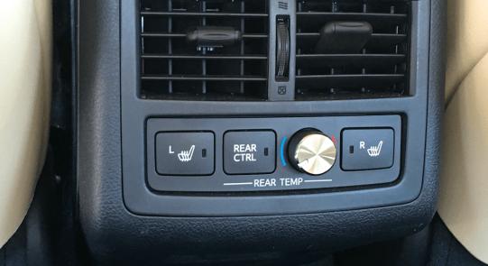 2016 toyota avalon hybrid back seat warmer controls panel